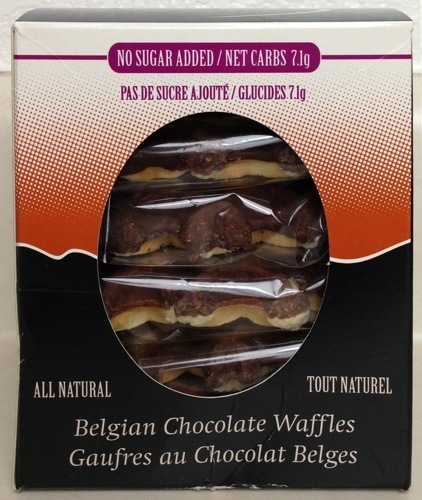 LaNouba No Sugar Added Belgian Chocolate Waffles