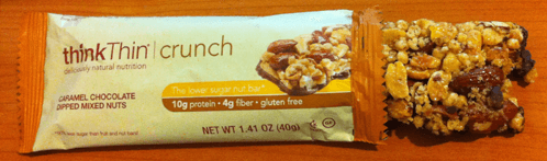 thinkthin Caramel Chocolate Dipped Mixed Nuts Bar