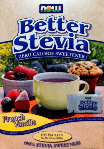 French Vanilla Better Stevia Packets by Now Foods
