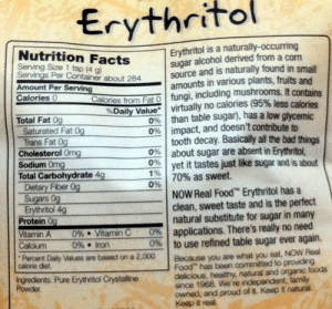 2.5 lb. Natural Erythritol by Now Foods