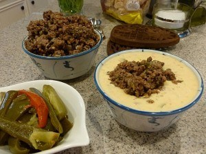 Low carb Chile con Queso with Meat