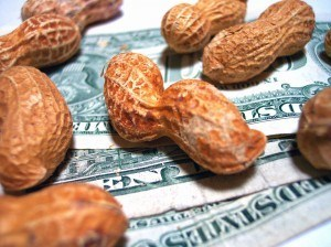 Food budgets aren't peanuts any more.