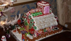 In our low carb, holiday house, all the high carbage holiday candy and snack crackers get adhered to the annual gingerbread house - which does not get eaten!