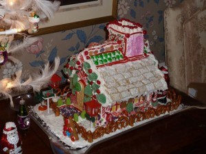 the annual gingerbread house