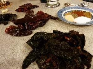 ancho pasilla and guajillo chiles make up the Mexican trinity