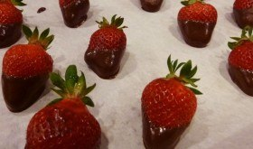 Chocolate Dipped Strawberries make a romantic, low carb dessert.