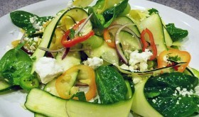 Fresh Zucchini and Cucumber Ribbon Salad - A Perfect Spring Salad
