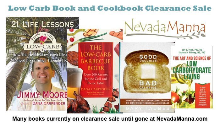 Low Carb Book and Cookbook Clearance Sale
